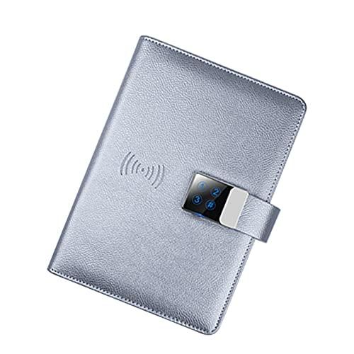 Nuevo Cuaderno de contraseña Inteligente con Cargador de teléfono móvil inalámbrico 16GB U Disco Bluetooth Sync Sync Teléfono móvil Pad Digital para Negocios, Académico, Arte (Color : D)