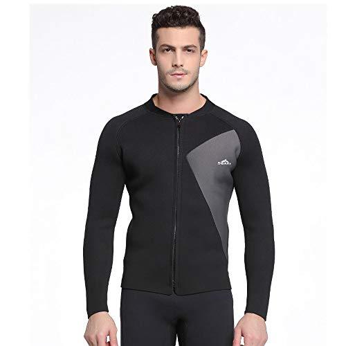 NCBH Wetsuit Mannen Outdoor Duiken Suit Houd Warm Slim Fit Surf Kleding Comfortabele Zonnebrandcrème Duurzame Zwemkleding Hoge Elasticiteit Koude Weerstand Top 3MM