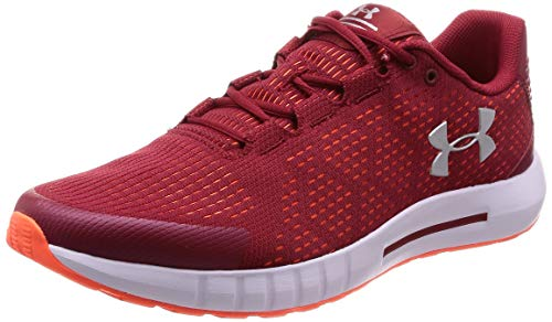 Under Armour Herren UA Micro G Pursuit Micro G Pursuit Men's Trainers , Rot (Aruba Red/ White/ Metallic Silver 600), 43 EU