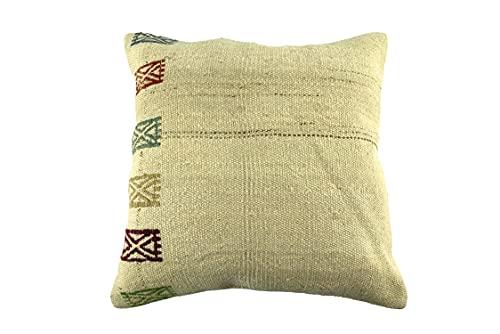 Kelim 3557 - Cojín (50 x 50 cm, funda de almohada decorativa de Kelim, 50 x 20 pulgadas), diseño de Kilim Lumbar