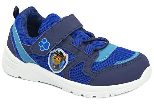Blinkfunktion Jungen Sneaker Kinderschuhe Blinkschuhe Turnschuhe Dunkelblau, kompatibel mit Paw Patrol Gr.24 25 26 27 28 29 30 31 (Numeric_26)