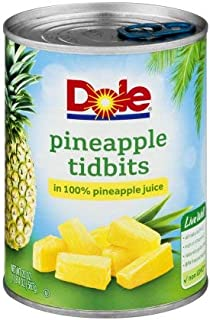 Pineapple Tidbits In 100% Pineapple Juice (Pack of 6)