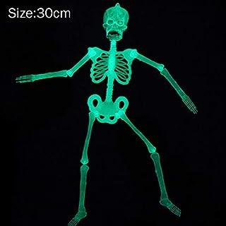 bb4b101d86e Soulitem Luminoso Colgante Humano Esqueleto Miedo Plástico Calavera  Halloween Decoración Fiesta Suministros - 30cm