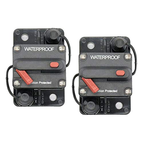 harayaa 2pcs 12V-36V Interruptor de Circuito Integrado Fusible Soporte de Audio para Automóvil para