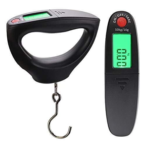 Bebliss Mini-Waage zum Aufhängen, tragbar, digital, Handhaken, elektronische Gepäckwaage, LED-Display, 10 g-50 kg
