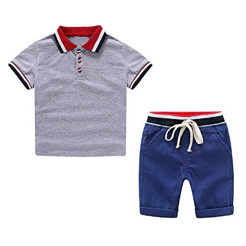 Yilaku Conjunto Dos Piezas Top y Pantalones Cortos Algodón Verano Niños 2-6 años