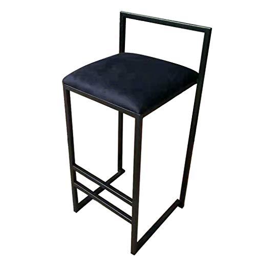 LHNLY-Esszimmerstühle Moderne Barhocker Bar-Stühle Tresenhocker Design Höhe Hocker Samt-Sitz Gold Metal Leg Arbeitshocker Polsterhocker für Haus, Küche, Balkon, Bistro, Pub, Max. 150kg