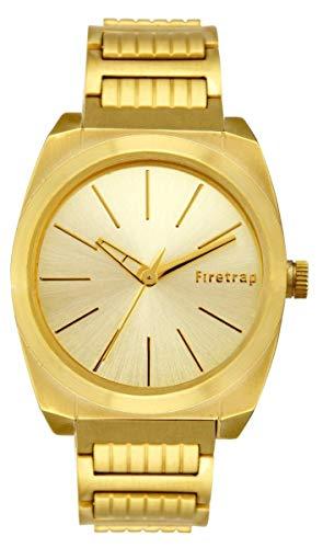 Firetrap FT1009G - Orologio da polso da uomo, cinturino in acciaio inox colore bianco
