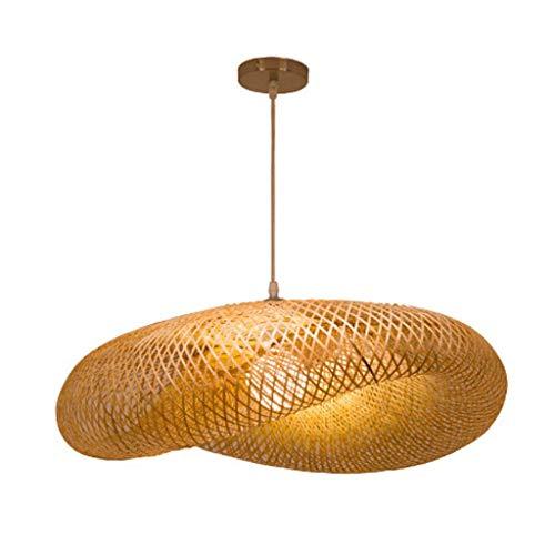 Lampes suspendues tissées en bambou naturel vintage et lumière en suspension en rotin tissée Suspension créative Arts Arts E27 restaurant Tearoom Lamps [Classe énergétique A +],D50cm
