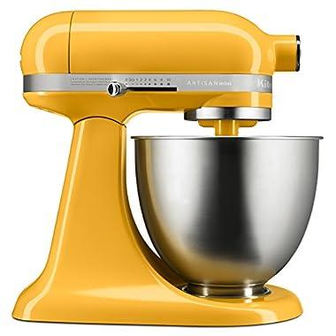 KitchenAid KSM3311XBF Artisan Mini Series Tilt-Head Stand Mixer, 3.5 quart, Orange Sorbet
