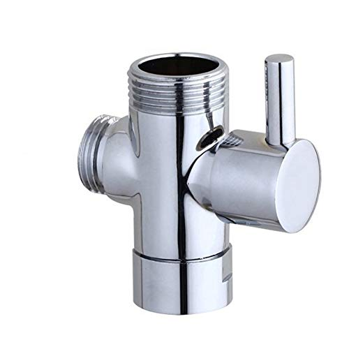 3 Way Messingchrom-Umsteller G1 2 T-Form-Adapter Ventil for Dusche Arm montiert PowerLift Brause