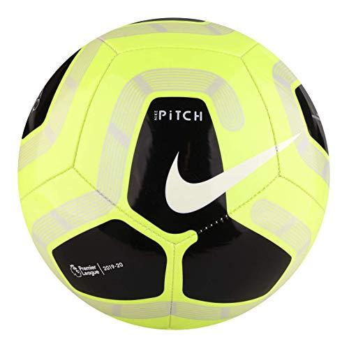 Nike Pitch Premier League Football 2019-2020, Volt/Nero, Taglia 5