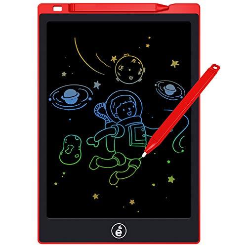 Tableta de escritura LCD,tablero electrónico de escritura y dibujo de 11 pulgadas,tableta de escritura borrable portátil Doodle Board Memo para niños y adultos en el hogar,la escuela,la oficina (rojo)