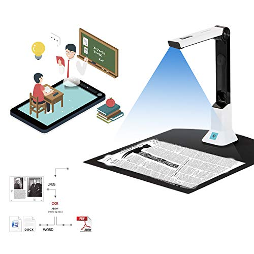 Document Scanner Wireless, Mobile Scanning Device with Hd Imaging Lens Led Automatic Fill Light Module for Home Office or On-The-go Professionals