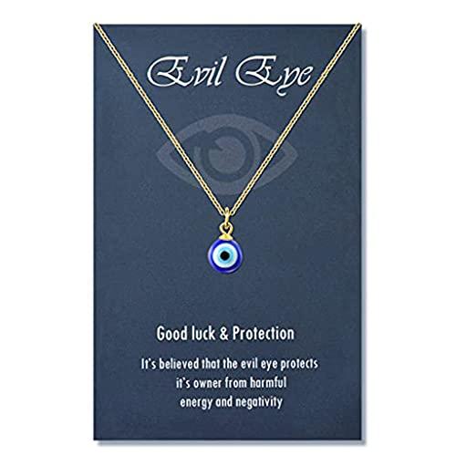 COMEYER Runde Tropfenform Böser Blick Anhänger Halskette Gold/Silber Kette Türkisch Schutz Glück Halskette für Frauen Männer Geschenke