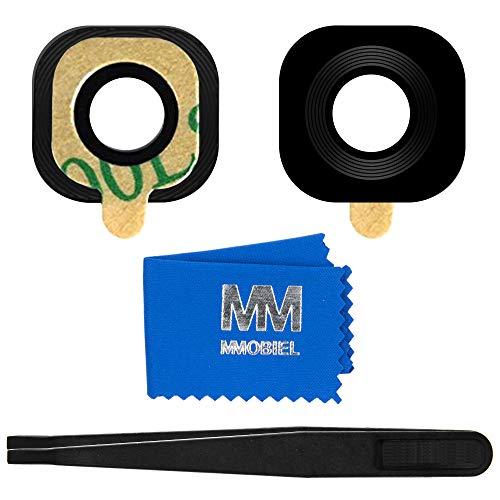MMOBIEL Lente de cámara Trasera de Repuesto Compatible con Samsung Galaxy S6 G920/S6 Edge G925 (Negro) con Pinzas y paño