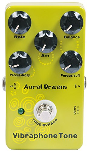 Aural Dream Vibraphone Tone Synthesizer Guitar Effects Pedal based on organ includes Percussion and Vibrato module.