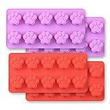 Cozihom - Stampi in silicone a forma di zampa di cane, 10 cavità, grado alimentare, per c...