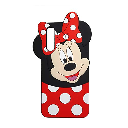 Galaxy A20 Minnie Mouse Case,Soft Silicone 3D Cartoon Animal Cover,Kids Girls Boys Rubber Kawaii Character Skin Shell (Minnie,for Samsung A20)