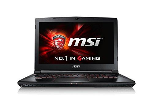 MSI GS40-6QE16H11 0014A1-SKU1 35,5 cm (14,0 Zoll) Laptop (Intel core i7 6700HQ, 16GB RAM, 1TB HDD, NVIDIA GeForce GTX 970M-Grafik, Windows 10 Home) schwarz