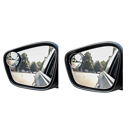 Demarkt Auto totwinkel lado espejo páginas duplicar Auto Espejo retrovisor espejo Invertir pequeñas redondas Retrovisor Gran Angular Espejo 50mm
