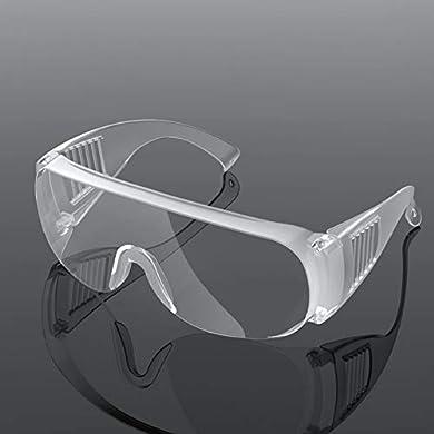 Foto di Occhiali Protettivi E Igienici di Sicurezza,Trasparente Classici Occhiali di Protezione Anti-Nebbia, Resistenti Ai Graffi per Lavori in Officina, Anti-graffio