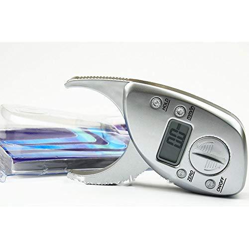 ASDFGHJK 1pc Calibrador de Grasa Corporal Monitores Analizador electrónico de Grasa Corporal Digital PLICOMETRO + Paquete de Cinta métrica Músculo probador de Piel