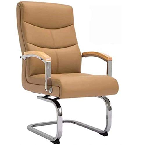Home Bürostuhl drehbare Sitzbogenstuhl Computerstuhl Student Schreibtischstuhl Boss Stuhl Leder Konferenzstuhl, B MISU (Color : D)