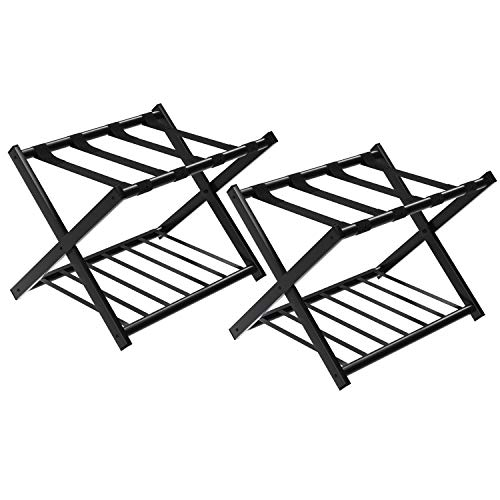 SONGMICS URLR65B-2 Luggage Rack Black