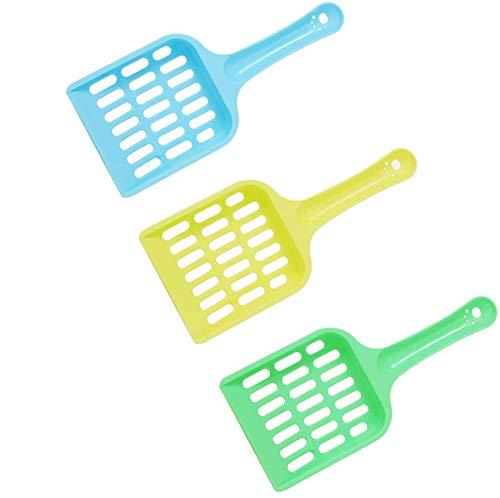 WEENOO Katzenstreuschaufel (3er-Pack), langlebige Katzenstreuschaufel, Reinigungswerkzeug, Katzenkotschaufel, Haustierreinigungswerkzeug