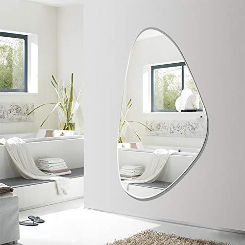 QJJML Specchio Figura Intera Moderno,Specchio Infrangibile Bagno,Specchio da Toilette per Appendere La Parete dello Specchio per Il Corpo Appeso A Parete per Il Bagno,100×52CM