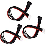 HobbySoar 3 Pack-ShareGoo 20CM 22AWG JST-XH Balance Charging Extension Cable Wire Lead Adapter for RC 4S Lipo Battery
