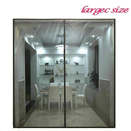 SODKK FliegengitterMagnetvorhangfürTüren 145x220cm, Magnet Insektenschutz Tür, Magnetverschluss, Klebemontage Ohne Bohren, Passt Türgröße bis zu - Grau