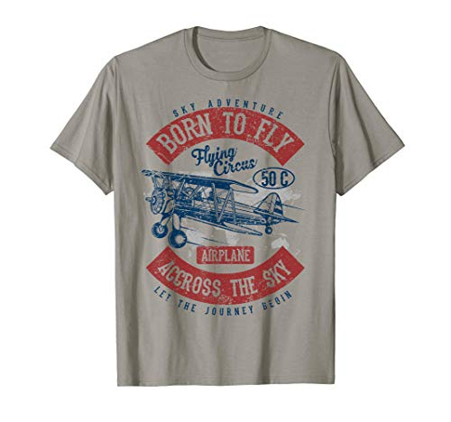 Born to Fly Best Gift 4 Pilot Aviation Love Fly Planes Shirt