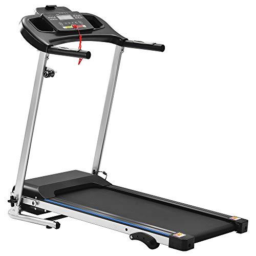 DDU Tapis de Course Pliable Machine Marche et Jogging 12 km/h 2 Programmes Automatiques Et 3 Niveaux d'Inclinaison avec Moniteur LCD