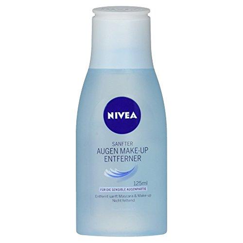 NIVEA Sanfte Augen Make-Up Entferner Lotion für wasserlösliche Mascara und Make-Up, 125 ml Flasche