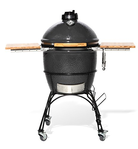 Wild Goose18-Inch Kamado with Stainless Steel Grill, Folding Bamboo Shelves and cart