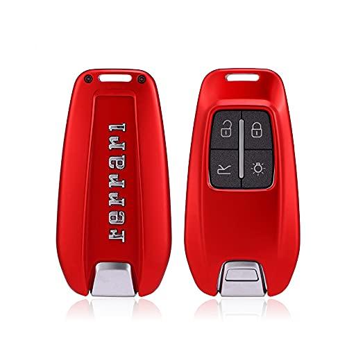 ontto Funda para llave de coche compatible con Ferrari ST90 812 F8 F430 458 588 488GTB, accesorios de aleación de...