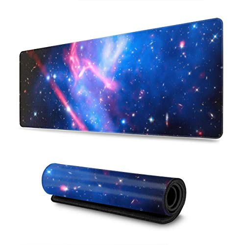 Frontier Macsj Extended Gaming Mouse Pad Large Mousepad with Stitched Edges, Keyboard Pads Mat for Gamer Computer Office Home 31.5x11.8 in