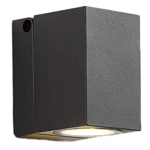 Waterdichte Buitenverlichting Opbouw LED Wall Lamp, zwart gelakt Kleur Aluminium Afgewerkt, verstelbare Bestraling Hoek
