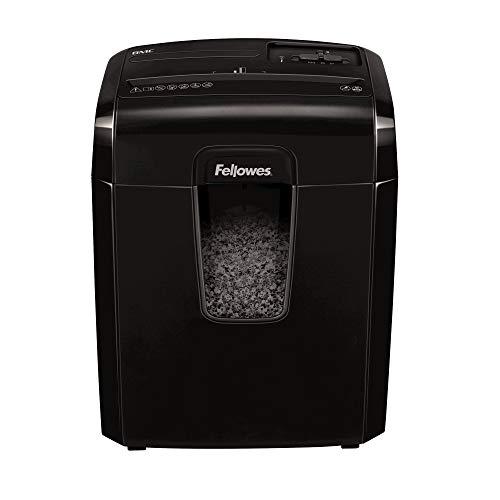 Fellowes Powershred 8Mc - Triturador de papel (Micro-cut shredding, 22 cm, 3 x 10 mm, 14 L, Botones, P-4)