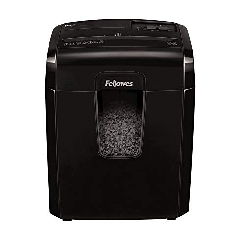 Fellowes Powershred 8Mc - Triturador de papel (Micro-cut shredding, 22 cm, 3 x 10 mm, 14 L, Botones, P-4)