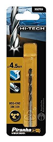 Piranha HSS-CNC, Metal Drill Bit 4.5mm (1), X50709QZ
