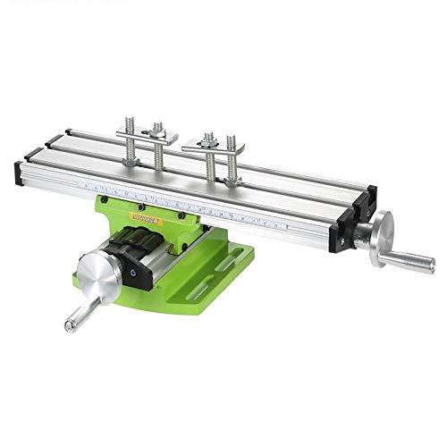 Durable Mesa de trabajo Mesa de trabajo de banco Compuesto de perforación Mesa de trabajo Mesa de deslizamiento multifunción Milling Machine Vise for el banco de soporte taladro de bricolaje