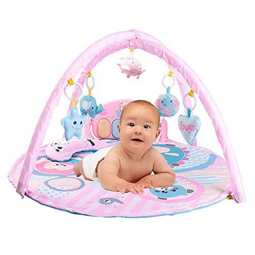 Baby Play Gym Etkage Basado En El Gimnasio Y Sostenible Baby Activity Gym & Play Mat, Diseñado por Expertos para El Desarrollo del Cerebro (Color : Pink)