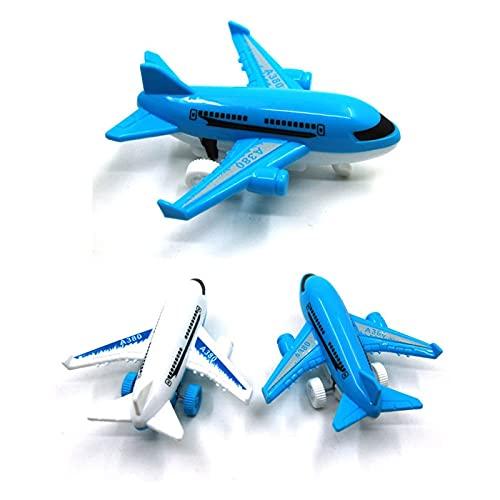 Yinyimei Coches de Juguetes 1pc Model Kids Airplane Toy Aircraft para niños vierte la impresión de vehículos de Juguete Resistencia a la caída (Color : 1 pc Random)