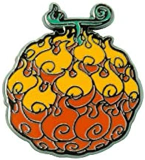 One Piece Flame-Flame Fruit Unisex Pin multicolor, Metal,