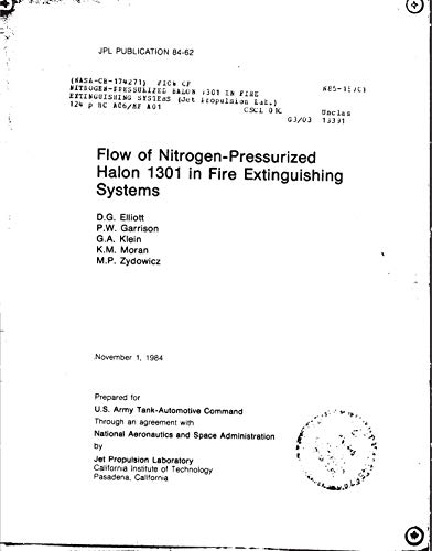 Flow of nitrogen-pressurized Halon 1301 in fire extinguishing systems