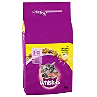 100 percent complete and balanced kitten dry food Whiskas Dry Kitten food is specially formulated with all the nutrients your kitten needs to grow into a healthy cat Contains tasty filled pockets with milk in the soft centre With Calcium to help supp...