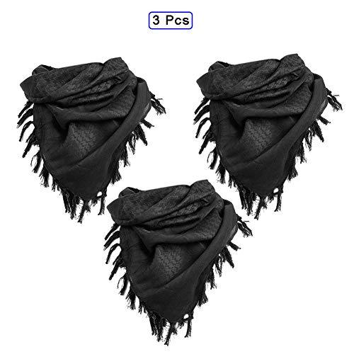 QWET Bufanda táctica 100% algodón, Militar árabe táctico Desierto Engrosado pañuelo para Mujeres y Hombres